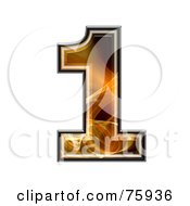 Royalty Free RF Clipart Illustration Of A Fractal Symbol Number 1 by chrisroll