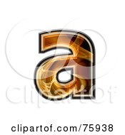 Royalty Free RF Clipart Illustration Of A Fractal Symbol Lowercase Letter A by chrisroll