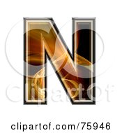 Fractal Symbol Capital Letter N by chrisroll