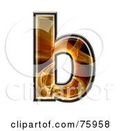 Fractal Symbol Lowercase Letter B by chrisroll