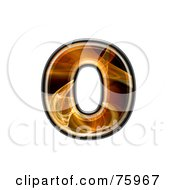 Royalty Free RF Clipart Illustration Of A Fractal Symbol Lowercase Letter O