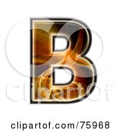 Fractal Symbol Capital Letter B by chrisroll