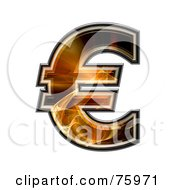 Royalty Free RF Clipart Illustration Of A Fractal Symbol Euro by chrisroll
