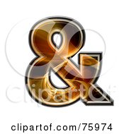 Royalty Free RF Clipart Illustration Of A Fractal Symbol Ampersand by chrisroll