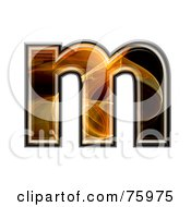 Fractal Symbol Lowercase Letter M by chrisroll