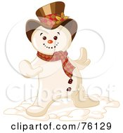 Royalty Free RF Clipart Illustration Of A Cool Snowman Dancing