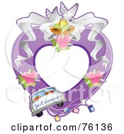 Royalty Free RF Clipart Illustration Of A Just Married Wedding Frame
