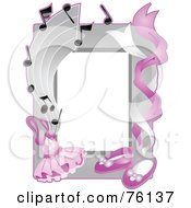 Royalty Free RF Clipart Illustration Of A Ballet Tuto And Shoe Frame by BNP Design Studio