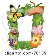 Royalty Free RF Clipart Illustration Of A Garden Bug Frame by BNP Design Studio