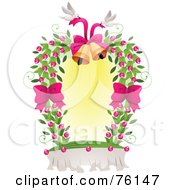 Royalty Free RF Clipart Illustration Of A Dove And Wedding Bells Frame by BNP Design Studio