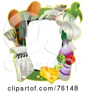 Royalty Free RF Clipart Illustration Of A Cooking Frame