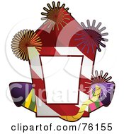 Royalty Free RF Clipart Illustration Of A New Year Fireworks Frame by BNP Design Studio