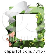 Royalty Free RF Clipart Illustration Of A Leprechaun St Patricks Day Frame by BNP Design Studio
