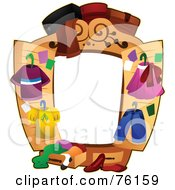 Royalty Free RF Clipart Illustration Of A Closet Frame by BNP Design Studio