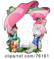 Royalty Free RF Clipart Illustration Of An Easter Holiday Frame by BNP Design Studio
