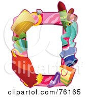 Royalty Free RF Clipart Illustration Of A Shopping Frame