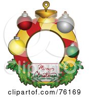 Royalty Free RF Clipart Illustration Of A Merry Christmas Bauble Frame