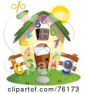 Royalty Free RF Clipart Illustration Of A Unique Math Home by BNP Design Studio