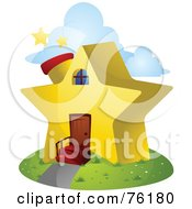 Royalty Free RF Clipart Illustration Of A Unique Star Home by BNP Design Studio