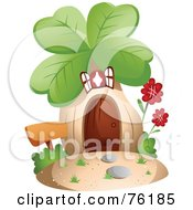 Royalty Free RF Clipart Illustration Of A Unique Clover Home by BNP Design Studio