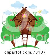 Royalty Free RF Clipart Illustration Of A Unique Tree Home by BNP Design Studio