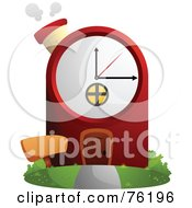 Royalty Free RF Clipart Illustration Of A Unique Clock Home by BNP Design Studio