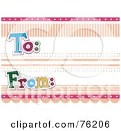 Royalty Free RF Clipart Illustration Of A To And From Label With Dots And Lines by BNP Design Studio