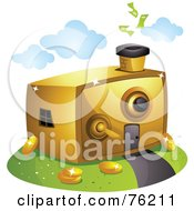 Royalty Free RF Clipart Illustration Of A Unique Vault Home