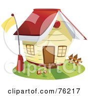 Royalty Free RF Clipart Illustration Of A Unique School House With A Book Roof by BNP Design Studio
