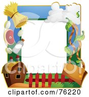 Royalty Free RF Clipart Illustration Of A Farming Frame by BNP Design Studio