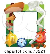Royalty Free RF Clipart Illustration Of A Camping Frame by BNP Design Studio