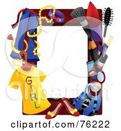 Royalty Free RF Clipart Illustration Of A Female Fashion Frame by BNP Design Studio