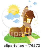 Royalty Free RF Clipart Illustration Of A Unique Boot Home by BNP Design Studio