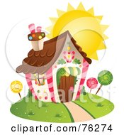 Royalty Free RF Clipart Illustration Of A Unique Candy Home by BNP Design Studio