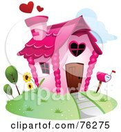 Royalty Free RF Clipart Illustration Of A Unique Heart Home