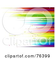 Royalty Free RF Clipart Illustration Of A Spectrum Horizontal Blur Background by BNP Design Studio