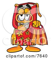Red Book Mascot Cartoon Character In Orange And Red Snorkel Gear