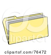 Royalty Free RF Clipart Illustration Of A Tan Manilla File Folder by Pams Clipart