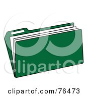 Royalty Free RF Clipart Illustration Of A Green Manilla File Folder by Pams Clipart