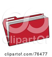 Royalty Free RF Clipart Illustration Of A Red Manilla File Folder by Pams Clipart