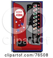 Royalty Free RF Clipart Illustration Of A Red Soda Dispenser Vending Machine
