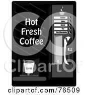 Royalty Free RF Clipart Illustration Of A Black And White Coffee Machine Dispenser