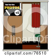 Royalty Free RF Clipart Illustration Of An Empty Self Serve Picture Booth by Pams Clipart