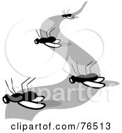 Royalty Free RF Clipart Illustration Of A Trail Of Dead Flies