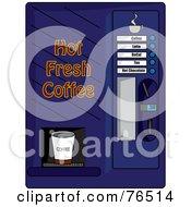 Blue Coffee Machine Dispenser