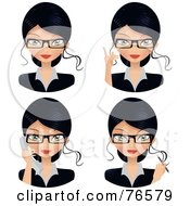 Royalty Free RF Clipart Illustration Of A Digital Collage Of Female Secretary Faces by Melisende Vector #COLLC76579-0068
