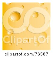 Royalty Free RF Clipart Illustration Of A Block Of Gruyere Cheese