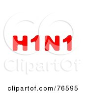 Red H1N1 On White