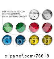 Royalty Free RF Clipart Illustration Of A Digital Collage Of Round Colorful Redcon Buttons