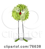 Royalty Free RF Clipart Illustration Of A Grassy Leggy Ball Creature by NL shop